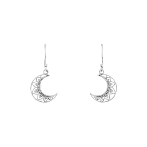 E360 - Mandala Moon Earrings