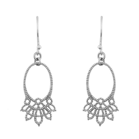 Oval Lacework Earrings