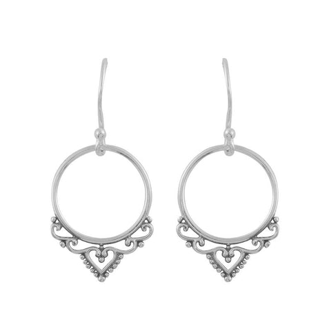Menhdi Circle Earrings