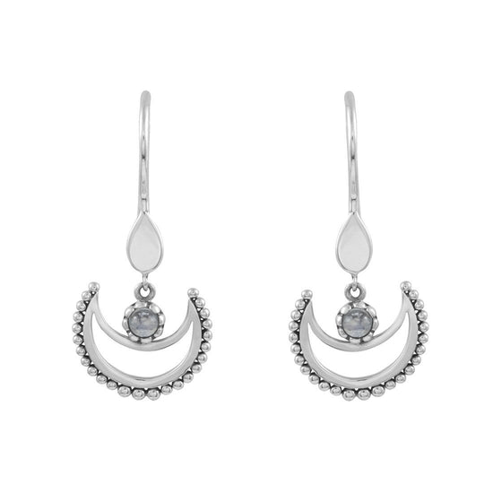 E469RM - Lunar Moonstone Earrings