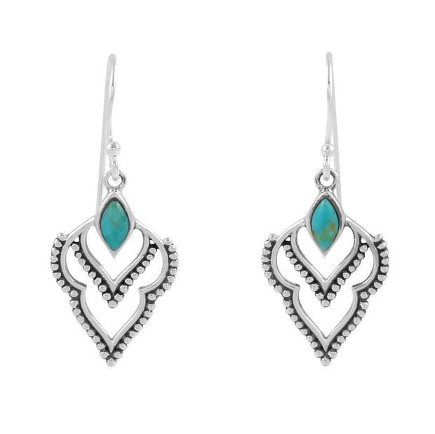 E496TQ - Manifest Turquoise Earrings