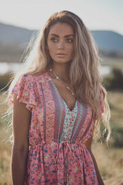 Aviana Mini Dress - Indian Pink