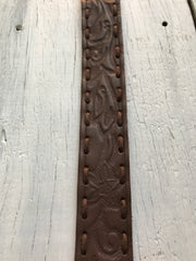 Vintage Rose Belt- Antique Brown