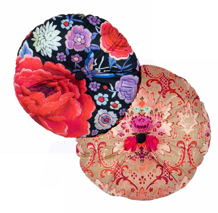 Velvet Cushion Round Flamenco