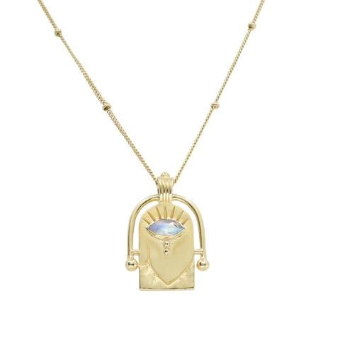 The Amulet Gold Necklace Hamsa Eye
