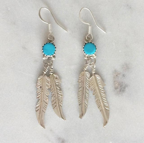 Navajo Wild Heart Earrings