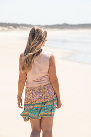 Folk Mini Skirt - Aloha