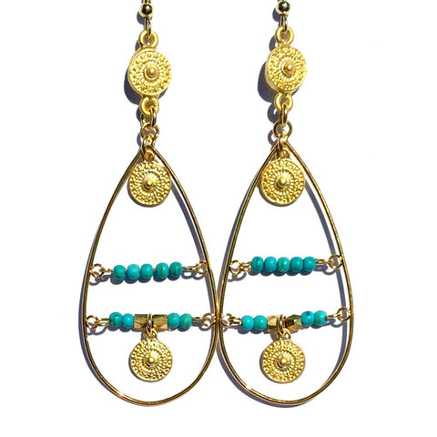 Rosetta Earrings- Aqua
