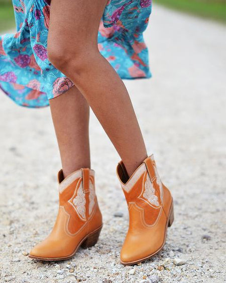 Daisy Duke Hand Tooled Boots
