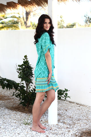 Rambagh Dress - Emerald