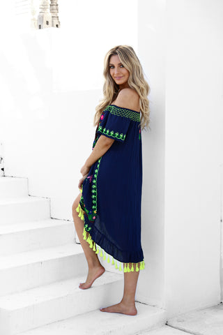 Bordardo Dress - Navy