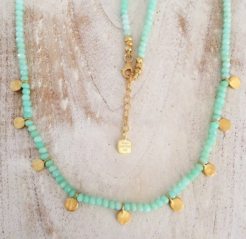 Isla Necklace- Green Chrysoprase
