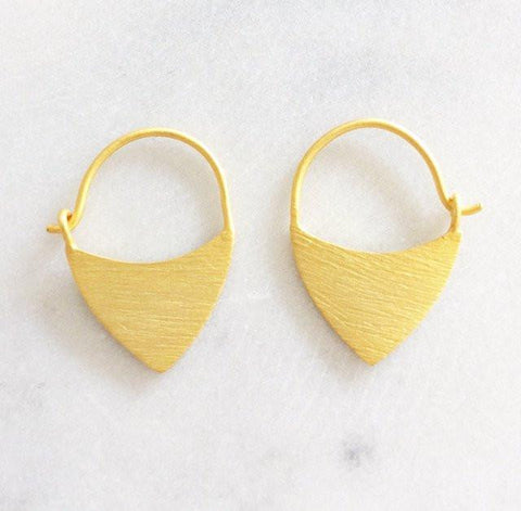 Warrior Gold Earrings