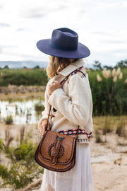 Blue Moon Hand Tooled Leather Bag - PRE ORDER