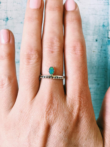 Drop in Ocean Ring- Opal