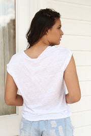 Essential Linen Tee - White