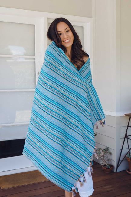 Nomad Turkish Towel - Turquoise