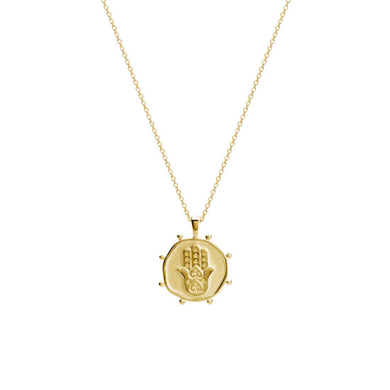 Protect Necklace In 18 KT Yellow Gold Plate