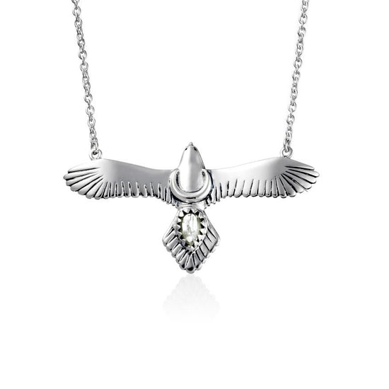 N293RM - Moons Eagle Moonstone Necklace