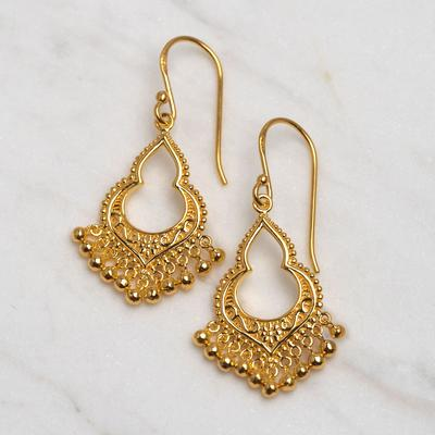 E563G - Gold Mahaweli Charm Earrings