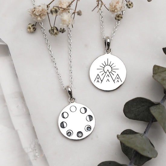 N418 - Under The Moon Phases Necklace