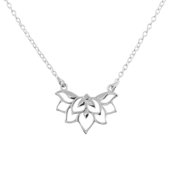 N323 - Dainty Lotus Necklace