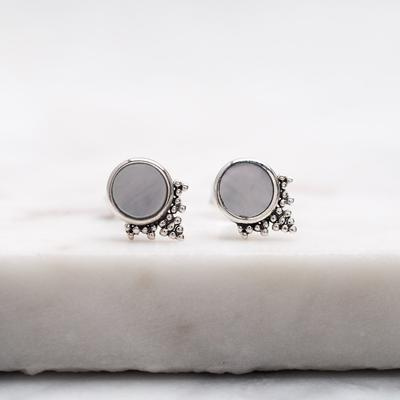S494MP - Mystic Mirror Pearl Studs