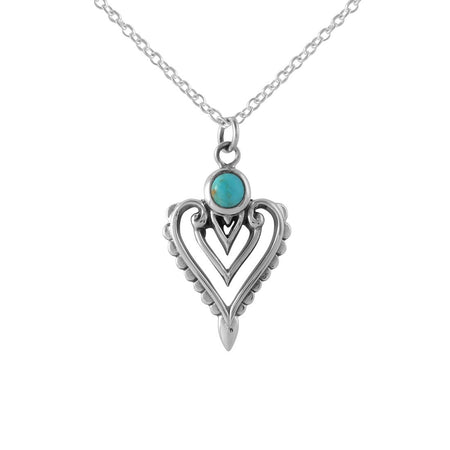 N366 - Spirit Temple Necklace Tq