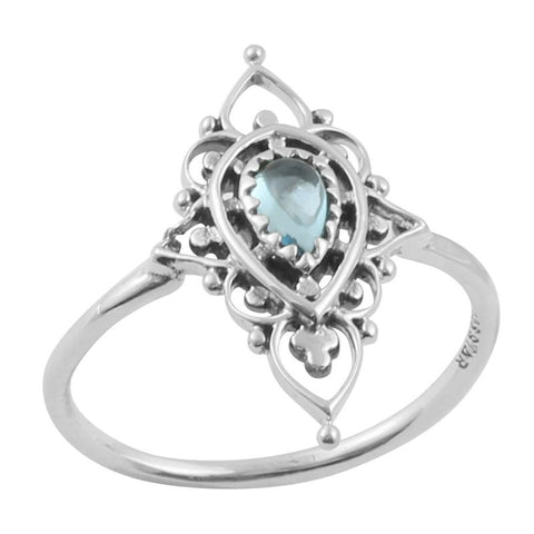 Majestic Ring- Blue Topez