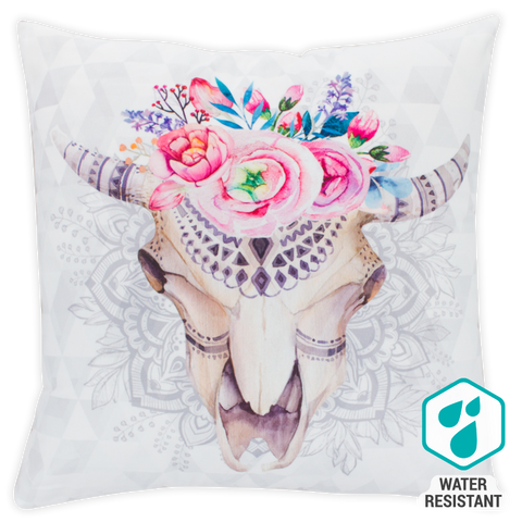 Digital Print Cushion - Rose Skull