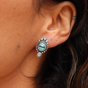 Ripple Turquoise Studs Sterling Silver