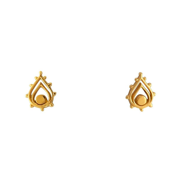 S435G - Gold Sunset Archway Studs