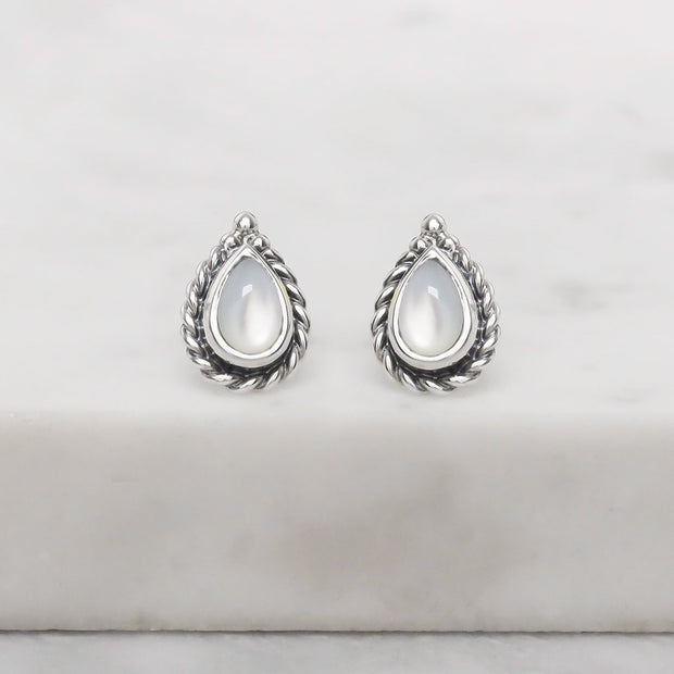 S570MP - Braided Pearl Studs