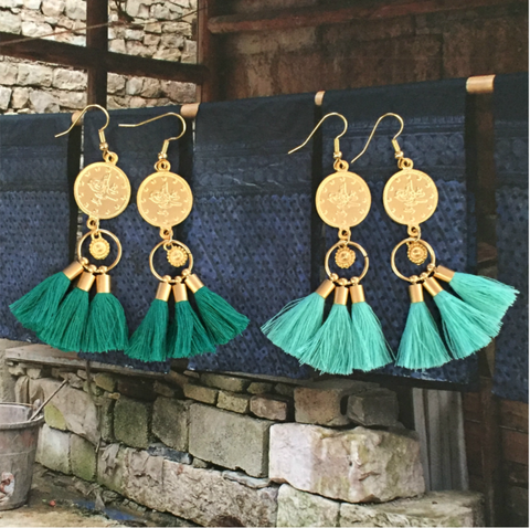 Attila Earrings- Emerald