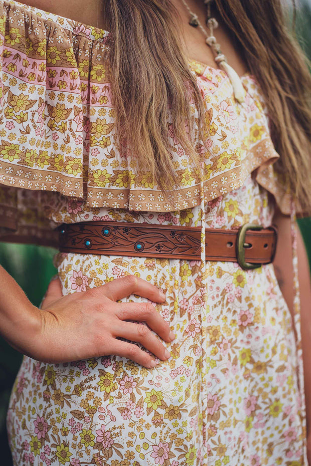 Born Free  Hand Tooled Belt - Pre-Order