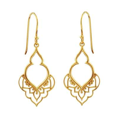 E312G - Gold Moroccan Doorway Earrings