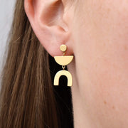 E668G - Gold Shape Earrings