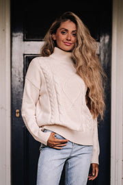 Sunday Roll Neck Sweater - Vanilla