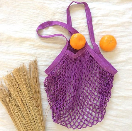 ECO Mesh Tote Bag - Purple