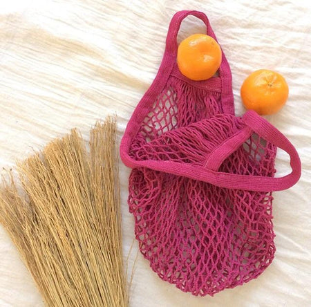 ECO Mesh Tote Bag - Berry