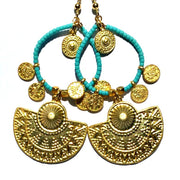 Karnak Earrings- Aqua