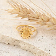 R393G - Sunflower ring Gold