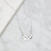 N512 - Sparkling Moon Eclipse Necklace