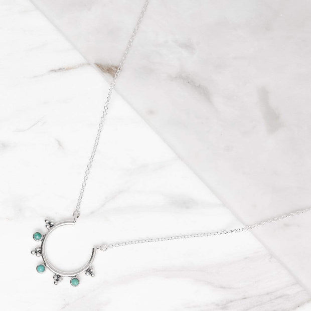 N464TQ - Jupiter's Moons Turquoise Necklace