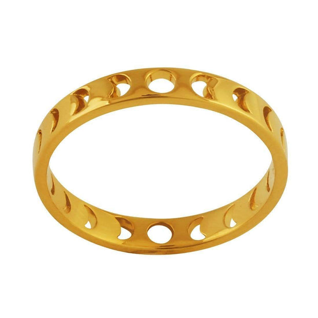 R142G - Gold All The Phases Ring /8