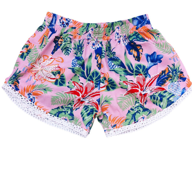 Lace Trim Shorts Pink Dream