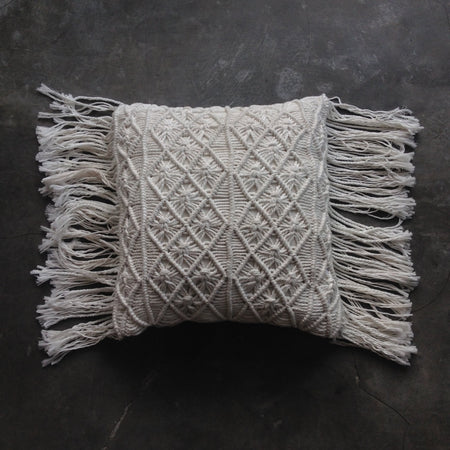 Natural Boho Luxe Cushion Cover - Square