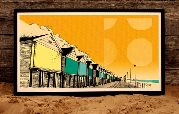 Limited Edition Beach Huts Print