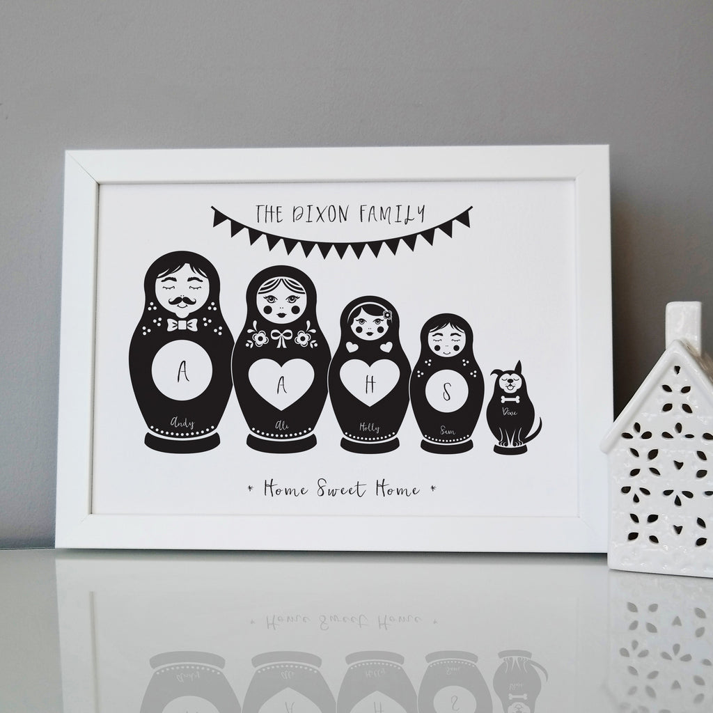 Personalised Russian Doll Family Print