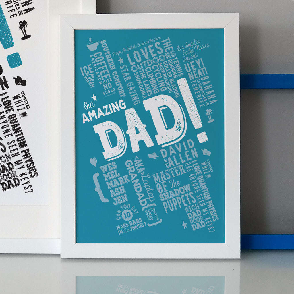 The Best Dad Personalised Print
